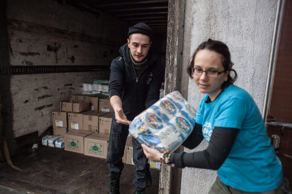 Humanitaarabi Ukrainas, Mondo. Foto: Veronika Svištš