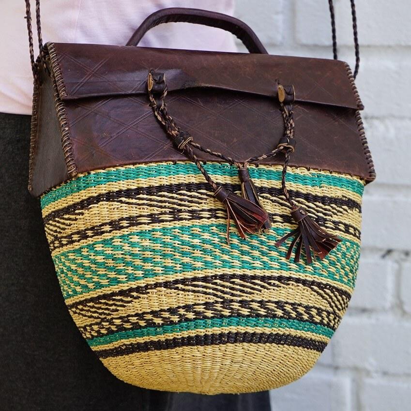 shoulder bag weaved mondo ghana