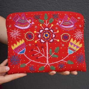iPad case embroidered red2