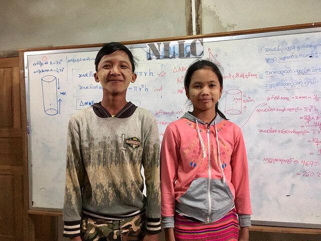 Eeskujulikud õpilased Sai Zai Pha ja Nung Swe Gar