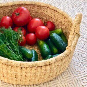 Ghana lauakorv Garden basket naturaalne