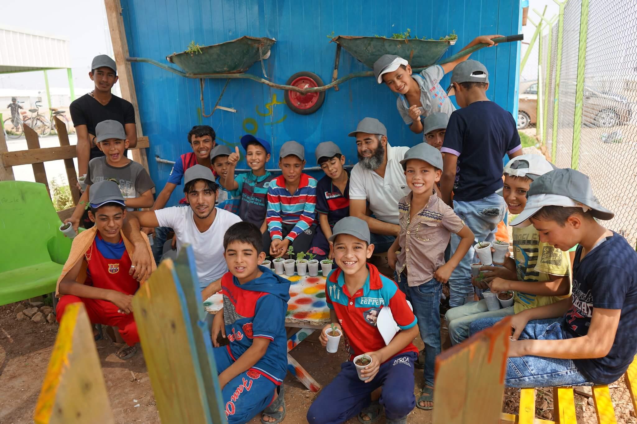 Azraq põllumajandusklass humanitaarabi Jordaania Süüria